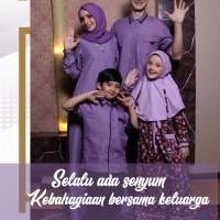 Busana Muslim Sarimbit Ethica Model Elfa 28 Ungu Gamis Anak size No.1