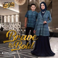 Couple Ethica 14 Navy Opsi Gamis Size S-L