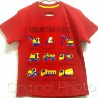 Baju kaos karakter anak laki-laki construction 7-10