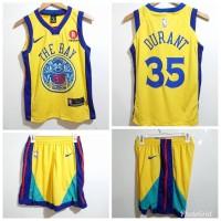 Jersey Setelan Basket NBA Anak Kids Golden State Warriors