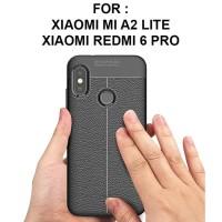 LEATHER AUTO FOCUS case Xiaomi Mi A2 Lite Redmi 6 Pro casing cover tpu