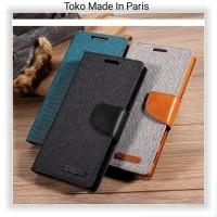 Lenovo A6600 / Flip Wallet Canvas Case Cover