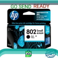 HP 802 SMALL ORIGINAL Black Ink Catridge Hitam kecil printer 1000