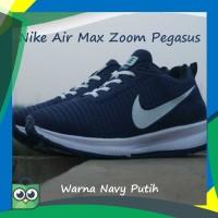 Sepatu Nike Air Max Zoom Pegasus Warna Navy Putih Cocok Untuk