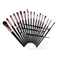 Kuas Make Up UK Professional Cosmetic Brush 20 Set - Black/Brown