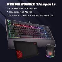 Tt eSports X1 RGB - CherryMX Blue Switch + FREE Mouse IRIS + Mousepad