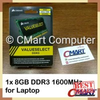 Memory RAM - Corsair 8GB DDR3 1600 MHz SODIMM Memory RAM Laptop