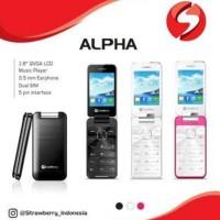 Baru Strawberry ALPHA ST2 - Hp Lipat - Dual SIM
