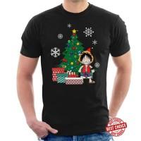Monkey D Luffy Around The Christmas Tree T Shirt Segala Warna
