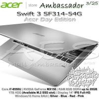 Acer Swift 3 SF314-54G Acer Day | Ci7-8550U | MX150 | 8GB | 1TB | W10