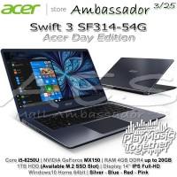 Acer Swift 3 SF314-54G Acer Day|Ci5-8250U|MX150|4GB up to 20GB|1TB|W10