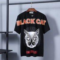 77c15e77 TSHIRT KAOS BRANDED PRIA GUCCI BLACK CAT BLIND FOR LOVE MIRROR QUALITY