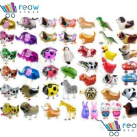 Jual Balon Foil Air Walker / Airwalker Animal / Hewan / Binatang Lucu Murah