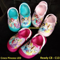 Crocs anak / Sepatu sandal crocs / crocs led princess / crocs lampu