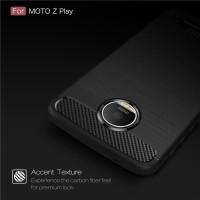 FIBER LINE Casing HP Motorola Moto Z Play Back Cover TPU Carbon