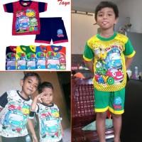 Promo Setelan Baju Anak Tayo Little Bus Murah Keren Pakaian Bayi Baby