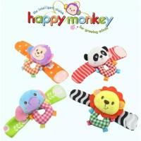 Set Gelang Rattle Mainan Edukasi Bayi Happy Monkey
