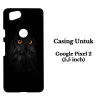 Casing HP GOOGLE PIXEL 2 eyes owl Custom Hard Case Cover