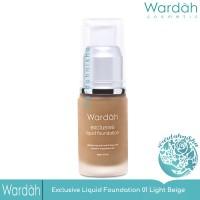 Wardah Exclusive Liquid Foundation 01 Light Beige