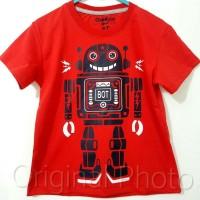 Baju kaos karakter anak laki-laki robot merah 7-10