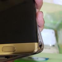 lcd touchscren samsung S7 edge rose gold. retak kaca