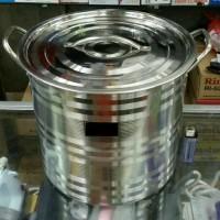 Harga panci tong air 28 stainles masak rebus steamer pot dandang | Pembandingharga.com