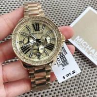 f3ac939d316a Jam Tangan Wanita Michael Kors MK-6095 Gold Diamond Luxury Original BM