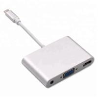 USB Type C to HDMI Digital AV + VGA audio 3.5mm MacBook pro #22