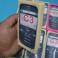 slicon/ jely/ utrathin hp nokia C3 qwerty, bentuk kotak Ready Stok