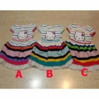 (Pakaian Bayi Perempuan) Baju Bayi Perempuan Dress Lucu - HK Stripe