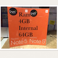 HP XIAOMI Redmi Note 5 Ram 4GB Internal 64Gb 4G LTE New Garansi Resmi