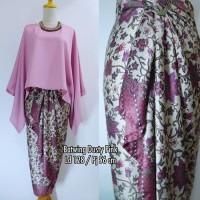 Batik Indonesia !! Setelan Kebaya Kutu Baru Batwing Dusty Pink