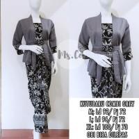 Batik Indonesia !! Setelan Kebaya Kutu Baru Combi Gery