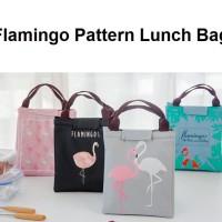 LB02 Lunch bag motif Flamingo / Tas Bekal Cooler Bag