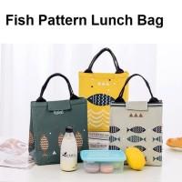 LB01 Lunch bag motif Fish / Tas Bekal Cooler Bag