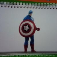 Kalender Meja Tahun 2018 Tema Captain America