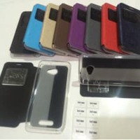 TRENDY Flip Cover Andromax A Smartfren Leather Case / Sarung HP