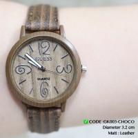 Harga jam tangan wanita guess motif tali kulit kayu grosir ecer termurah  67a3afe4c0