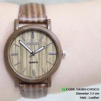 Harga jam tangan wanita tali kulit motif kayu leather grosir ecer  3e65969e02