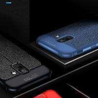 Samsung galaxy a6+ 2018 Leather Anti crack auto focus case