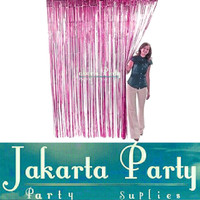 Tirai Foil Hot Pink / Foil Curtain / Back Drop Rumbai