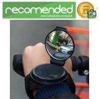 Kaca Spion Sepeda 360 Rotatable Arm Wristband Hand Mirror Bike - Hitam