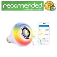 Bohlam LED RGB E27 12W dengan Bluetooth Speaker - Putih