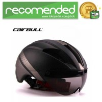 CAIRBULL Helm Sepeda Magnetic Removable Lens - Hitam Abu - L