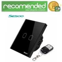 SESOO Saklar Lampu Luxury Touch LED with Remote - Hitam - 2