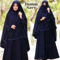 Gamis Syari Hanum Navy plus Niqab/Cadar