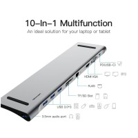 Vention All in One USB Type-C 3.1 to HDMI LAN Aux Adapter Converter