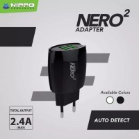 Kepala Charger Hippo Nero 2 Fast Charge 2.4A 2 port USB autodetect