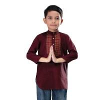 Shirt Branded Baju Koko Kurta Anak Laki-laki - IRU 467