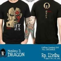 Kaos Baju Tshirt Anime One Piece Monkey D Dragon